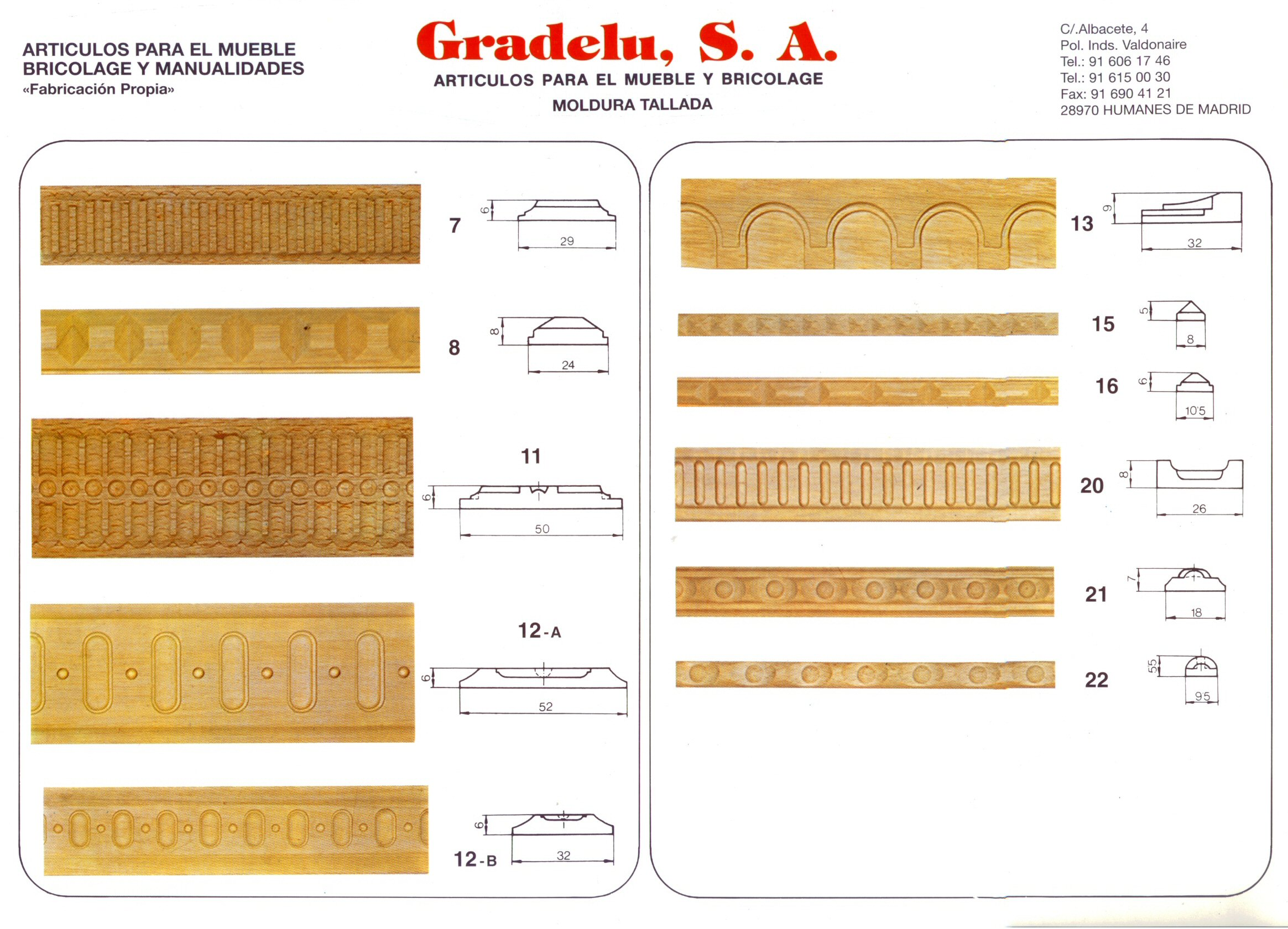 Molduras de madera online materiales de construcci n - Materiales de construccion on line ...